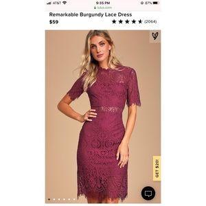 Lulus Remarkable Lace Midi Dress